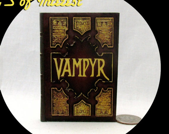 VAMPYR SLAYER HANDBOOK Miniature Book in 1:3 Scale Readable Doll Book Vampire Buffy American Girl Doll 18 inch Doll Potter Magic