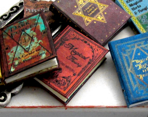 MAGICAL THEORY Magic Textbook Miniature Dollhouse 1:12 Scale Illustrated Readable Magic Witch Fortune Teller Gypsy Popular Boy Wizard Potter