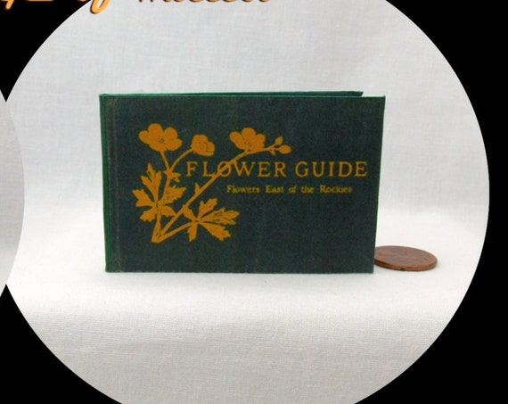 FLOWER GUIDE Illustrated READABLE Book in 1:3 Scale Miniature Book American Girl Doll 18 inch Ag Doll Garden Horticulture Spring Plants