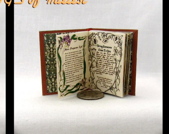 1:6 Scale PRACTICAL MAGIC SPELL Book Illustrated Readable Book Potter Witch - Blythe - Barbie Phicen Scale Book 1/6