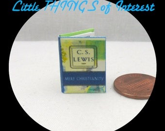 MERE CHRISTIANITY Miniature Book Dollhouse 1:12 Scale Readable Book