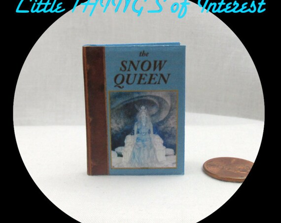 THE SNOW QUEEN Book in 1:6 Scale - Blythe, Momoko, Pullip, Barbie Scale Readable Illustrated Book 1/6 scale