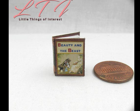 Kit BEAUTY And The BEAST Dollhouse Miniature Book PDF 12th Scale Openable Miniature Book Bell Disney Prince Princess