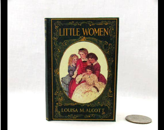 LITTLE WOMEN Book in 1:3 Scale Readable Book American Girl Doll 18 inch AG Doll 1/3 Scale