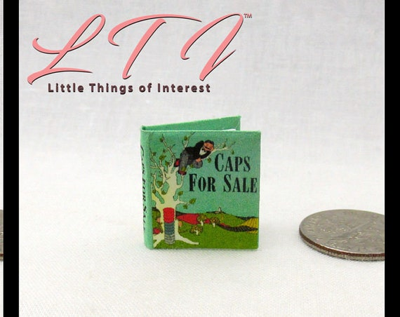 Kit CAPS For SALE Book PDF Dollhouse Miniature Book 1:12 Scale Book Illustrated Accessory Children Monkeys