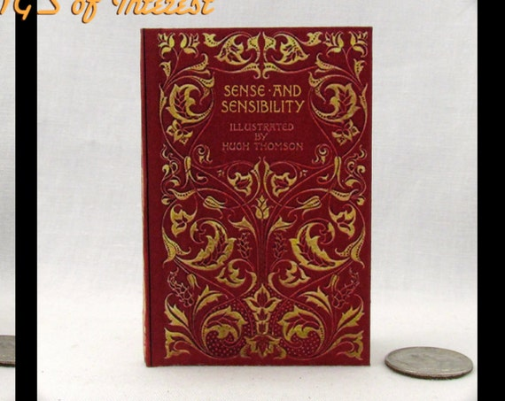 SENSE AND SENSIBILITY Book in 1:3 Scale Readable Miniature Book Accessories American Girl 18 inch Ag Doll 1/3 Scale