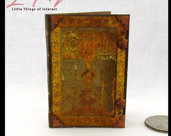 ENCANTUS MAGICAL SPELL Book 1:6 Scale Illustrated Miniature Book Magic Potter Sorcerer's Apprentice Blythe Barbie Phicen Play Scale