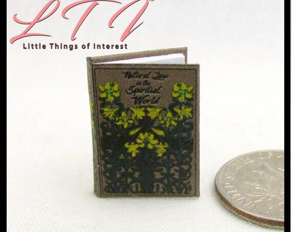 NATURAL LAW Of The SPIRITUAL World Miniature Dollhouse 1:12 Scale Book Faith Drummond Religion Spirituality 1883