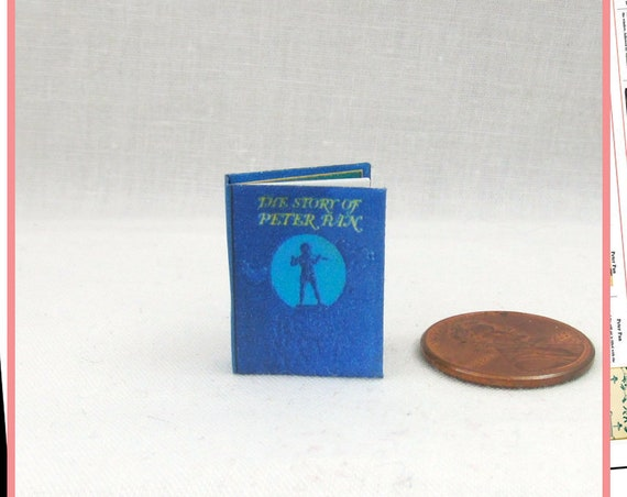 PETER PAN Dollhouse Miniature Book 1:12 Printable Download PDF Tutorial Instant Project Fairy Tale Wendy Tinker Bell Mermaids
