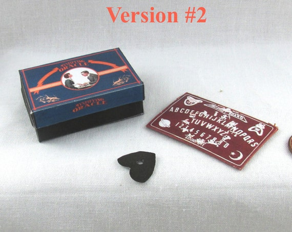 Dollhouse Doll OUIJA BOARD - Box and Planchette DIY Printable Miniature Dollhouse 1:12 Scale Version 2 Potter Magic Witch Wizard Download