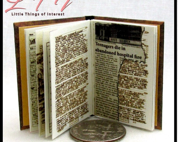 JOHN WINCHESTER'S JOURNAL Replica Miniature Book Readable Illustrated Book 1:6 Scale Play Scale Supernatural Vampire Werewolf Witch Angel