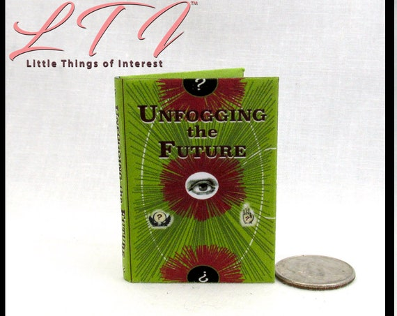 UNFOGGING The FUTURE Magical Textbook in 1:6 Scale Illustrated Readable Spell Book Magic Wizard Witch Popular Boy Wizard Gypsy Potter