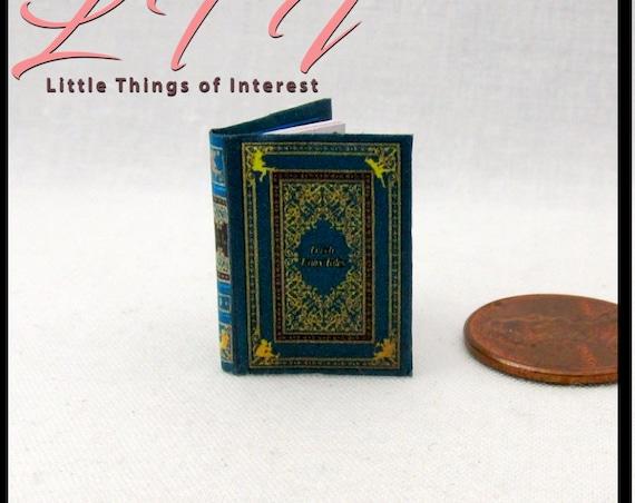 IRISH FAIRY TALES Miniature Book Dollhouse 1:12 Scale Readable Illustrated Book