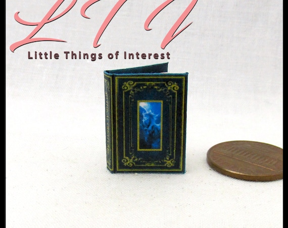 MYTHICAL CREATURES Miniature Book Dollhouse 1:12 Scale Readable Illustrated Book Dragon Unicorn Wizard Witch Potter Gryphon Centaur Cyclopes