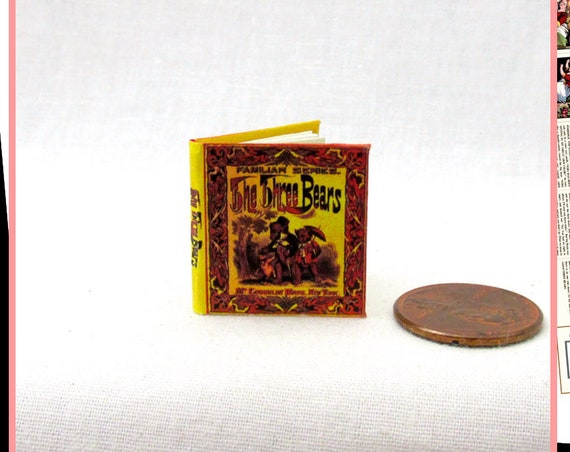 The THREE BEARS Dollhouse Miniature Book 12th Scale Openable Miniature Book Printable DOWNLOAD Book Goldilocks