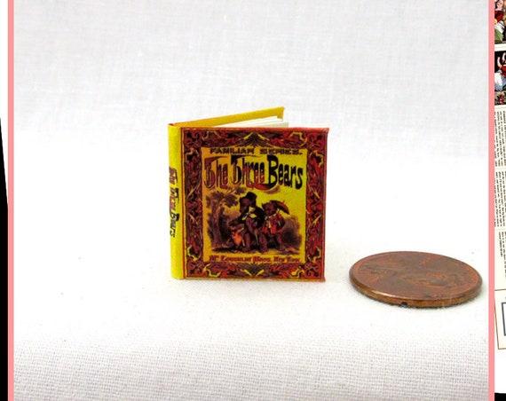 The THREE BEARS Dollhouse Miniature Book 12th Scale Openable Miniature Book Printable DOWNLOAD Book Goldilocks