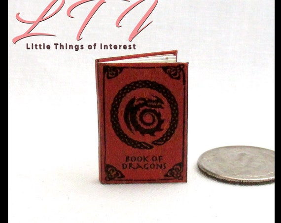 How To TRAIN YOUR DRAGON Book Of Dragons Miniature Book Dollhouse 1:12 Scale Dragon Rider Berk Potter Magic Wizard Witch