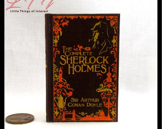 The COMPLETE SHERLOCK HOLMES Illustrated Readable Book 1:3 Scale Miniature Book American Girl Doll 18 inch Doll 1/3 Scale