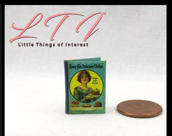Kit COOKBOOK Book PDF Tutorial 1:12 Miniature Dollhouse Book Kitchen Recipe Cook 65 Delicious Dishes DIY Tiny Food