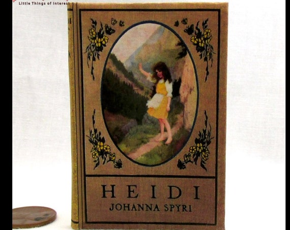 HEIDI Book in 1:3 Scale Readable Miniature Book American Girl Scale Book Doll 18 inch AG Doll 1/3 Scale Johanna Spyri