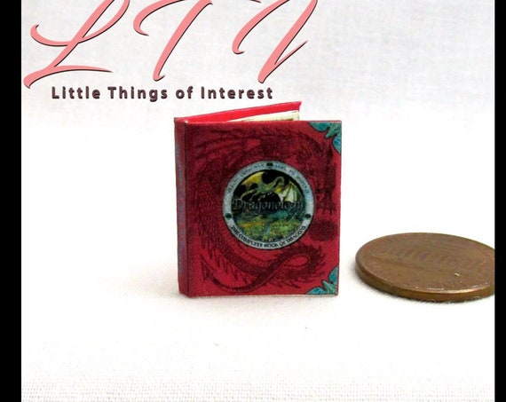 The COMPLETE Book of DRAGONS Miniature Book Dollhouse 1:12 Scale Readable Illustrated Book
