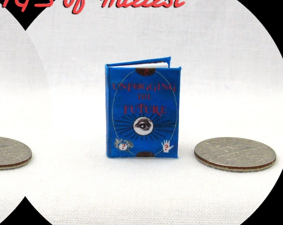 UNFOGGING THE FUTURE Magical Textbook Miniature Dollhouse 1:12 Scale Illustrated Readable Magic Popular Boy Wizard Potter Witch Gypsy