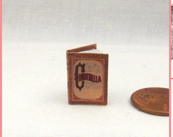CINDERELLA Book PDF and Tutorial Printie for 1:12 Miniature Dollhouse Scale Miniature Accessory Prince Charming Disney Classic