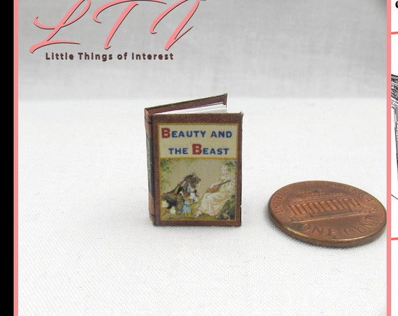 BEAUTY And The BEAST Dollhouse Miniature Book 12th Scale Openable Miniature Book Printable DOWNLOAD Book Bell Disney Prince Princess Magic