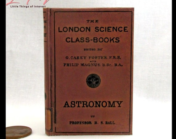 ASTRONOMY TEXTBOOK Book in 1:3 Scale Illustrated Readable School Book American Girl Doll 18 inch AG Doll 1/3 Scale