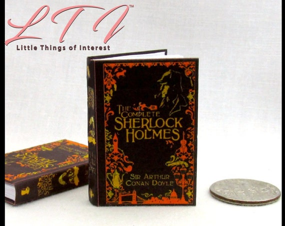 The COMPLETE SHERLOCK HOLMES 1:6 Scale Book Readable Illustrated Detective Book Barbie Scale Barbie Fashion Arthur Conan Doyle Dr. Watson