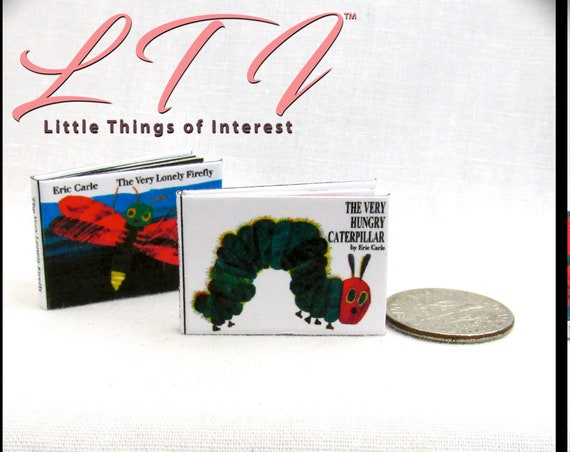The VERY HUNGRY CATERPILLAR Illustrated Miniature 1:12 Scale Readable Book Butterfly Food Children's Book