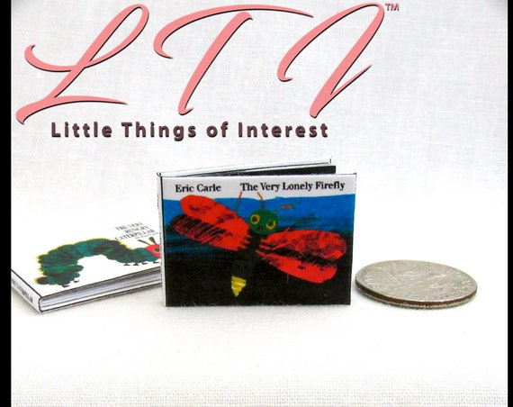 The VERY LONELY FIREFLY Illustrated Miniature Dollhouse 1:12 Scale Readable Book Children's Book