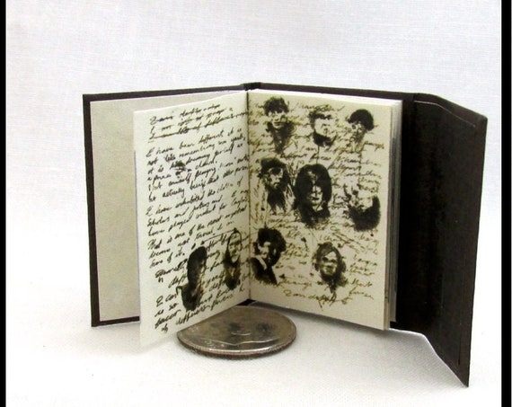 JOURNAL Of IMPOSSIBLE THINGS Miniature Book Readable Illustrated Book 1:6 Scale Doctor Who Science Fiction Fantasy