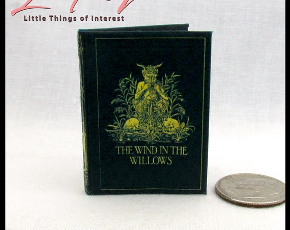 THE WIND In The WILLOWS 1:6 Scale Readable Illustrated Miniature Book Play Scale Children's Novel 1908 Animals Mole Rat Toad Badger Motorcar