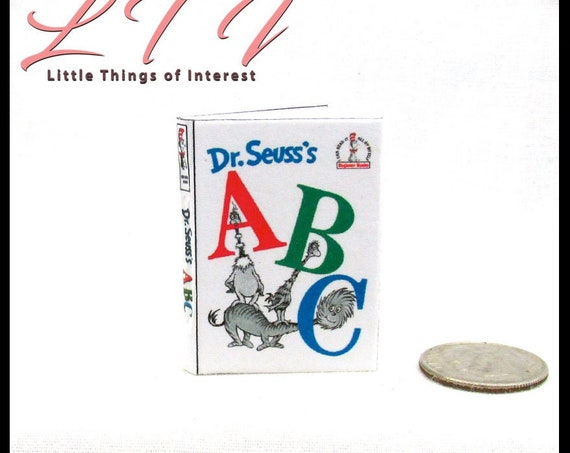 1:6 Scale DR. SEUSS'S ABCS Book Readable Illustrated Miniature Book Children's Story Book Blythe Pullip Barbie Phicen Play Scale
