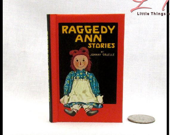 RAGGEDY ANN Illustrated Book in 1:3 Scale Readable Book 18 inch AG Doll 1/3 Scale