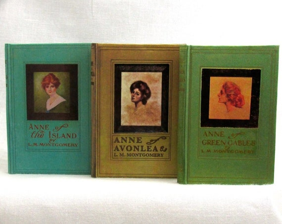 """ANNE Of GREEN GABLES Set of 3 1:3 Scale Readable Books 18"""" Doll Ag Doll American Girl Doll Accessories Anne of the Island Avonlea"""
