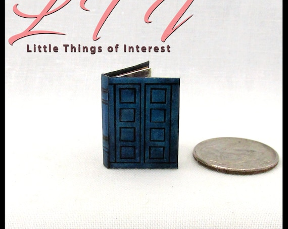 TARDIS JOURNAL RIVERSONG'S Dollhouse Miniature Illustrated 1:12 Scale Book Doctor Who British Weeping Angel Time Traveling Spoilers