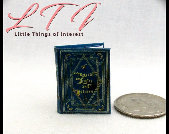 MAGICAL DRAFTS And POTIONS Magical Textbook Miniature Dollhouse 1:12 Scale Illustrated Readable Magic Popular Boy Wizard Potter Witch  Gypsy