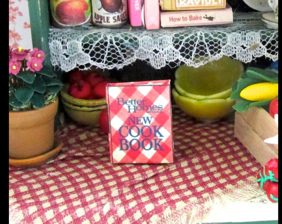 BETTER HOMES & GARDEN Cookbook Miniature Dollhouse Book 1:12 Scale Illustrated Book Kitchen Food Cooking
