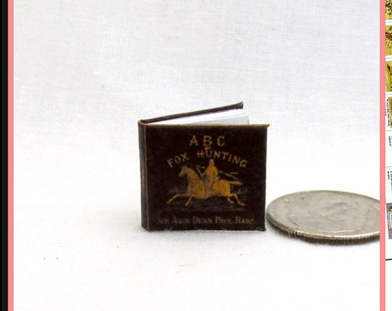 ABC's Of Fox Hunting Dollhouse Miniature Book 1:12 Printable Download PDF Tutorial Instant Project Children's Book