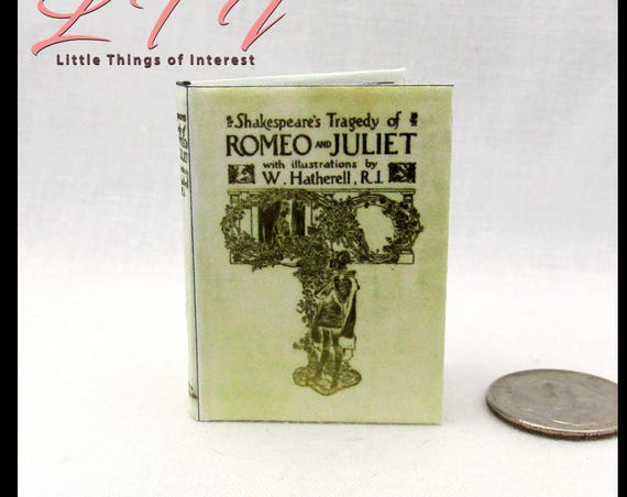 ROMEO AND JULIET 1:6 Scale Book Readable Illustrated Miniature Book by William Shakespeare Tragedy Romance Love Blythe Pullip Barbie Phicen