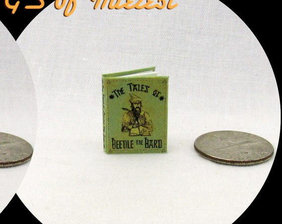 The TALES Of BEEDLE The BARD Miniature Dollhouse 1:12 Scale Illustrated Readable Potter Magic Wizard Witch Fortune Teller Gypsy Folklore
