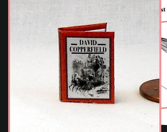 DAVID COPPERFIELD Dollhouse Miniature Books 1:12 – Miniature Books Printable Download Charles Dickens Novel Adventure Boy Life England