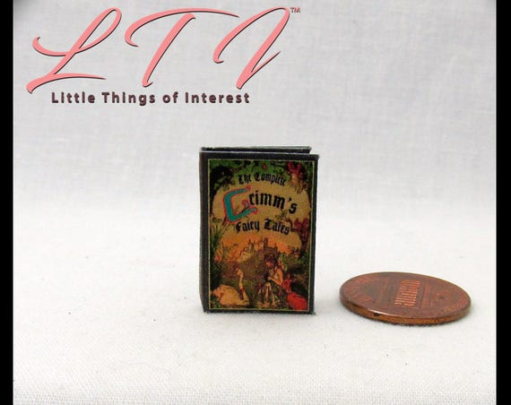 GRIMMS FAIRY Tales Book Downloadable 1:12 Miniature Dollhouse Scale Book PDF Tutorial Printie Printable Download Book Once Upon Time