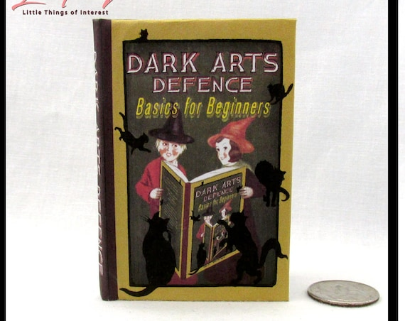 DARK ARTS DEFENSE 1:3 Scale Readable Book Patronus Charm Polyjuice Potion 18 inch Illustrated Spell Popular Boy Wizard Witch Potter Magic