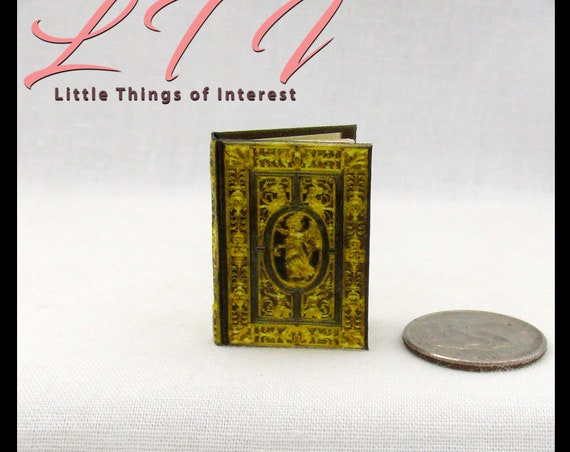 The FARNESE BOOK Of HOURS 1:6 Scale Color Illustrated Illuminated Miniature Book Latin Italian Renaissance Medieval Bible Barbie Play Scale