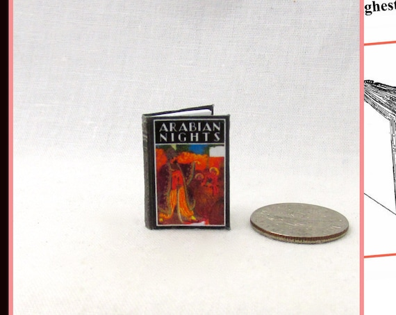 ARABIAN NIGHTS Dollhouse Miniature Book 1:12 Printable Download PDF Tutorial Instant Project Tales Told by Sultana Scheherazade