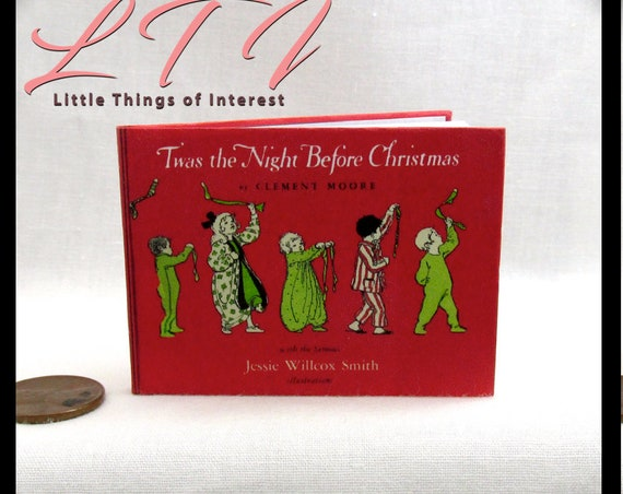 TWAS The NIGHT Before CHRISTMAS Book 1:3 Scale Readable American Girl Doll Book Santa Christmas Sleigh Snow 18 inch Doll 1/3 Scale