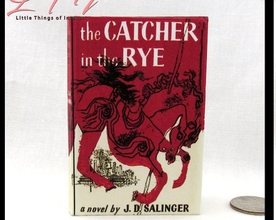 """The CATCHER IN The RYE 1:3 Scale American Girl Doll Book Illustrated Readable Book 18 inch Ag Doll 18"""" Miniature Book"""